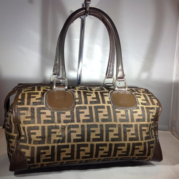 "Fendi Handbags - Vintage Authentic Fendi Boston Bag 12 x 6"" x 7"""
